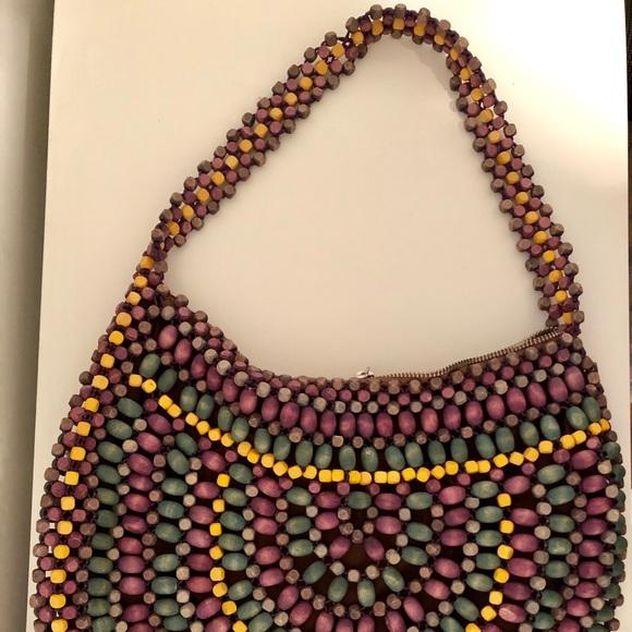 7a901843fc Club Monaco Handbags - Club Monaco - Wooden Bead Circle Handbag Purse